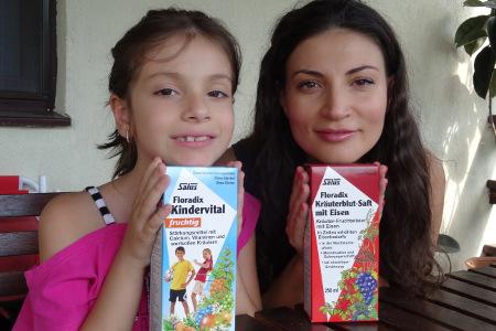 Ioana Ginghina recomada Floradix Krauterblut & Kindervital