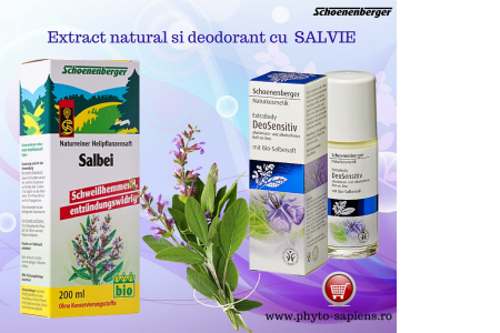 Extract natural si deodorant cu  salvie