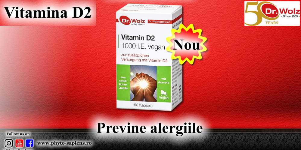 Vitamina D2 - Previne alergiile