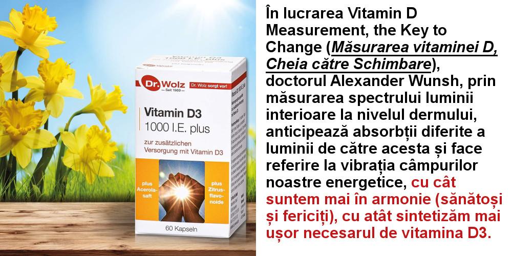 Vitamina D3 - Sănătoși și fericiți